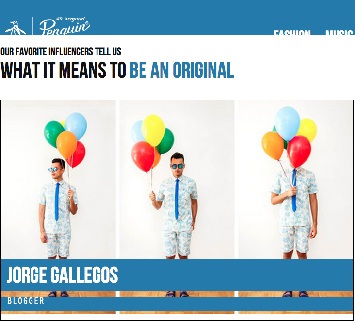 Jorge Gallegos featured on Be An Original