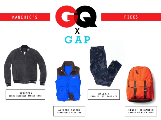 Trendy Now: Manchic's Picks from GQ for Gap 2013