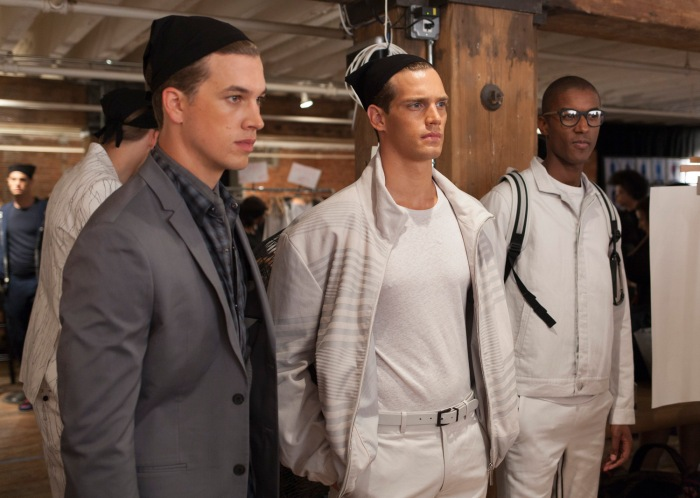 Perry Ellis SS15, Backstage With Creative Director Michael Maccari.