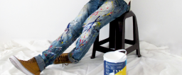 The Paint Splattered Jeans Trend